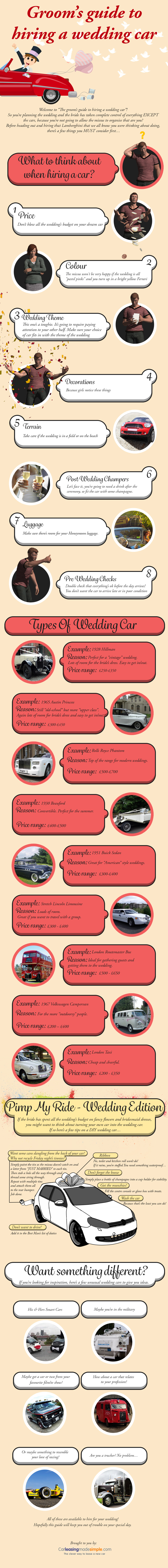 Groom's Guide To Hiring A Wedding Car