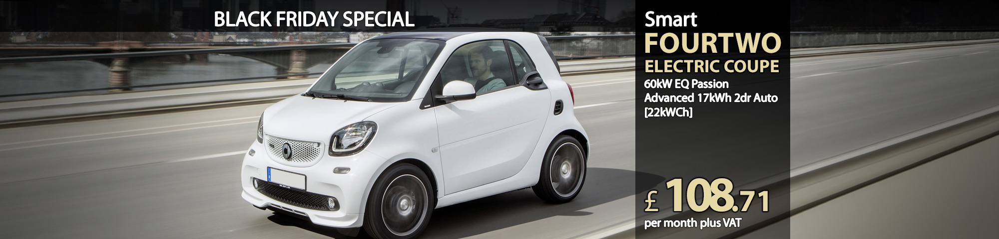 Smart FORTWO ELECTRIC COUPE 60kW EQ Passion Advanced 17kWh 2dr Auto